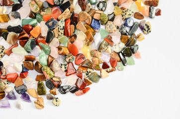 Bogenrand Heilsteine Mineralien poliert