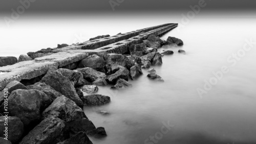 canvas print picture Black and White Silent Sea