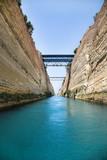 Wasserweg durch den Kanal von Korinth in Griechenland