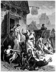 Starvation - Famine - Hungernot - 16th / 17th century