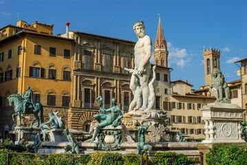 Fontana del Nettuto, Statua, piazza della Signoria, Firenze