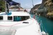 Mit dem Katamaran durch den Kanal von Korinth in Griechenland