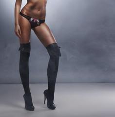 Fashion shoot of a young and sexy woman