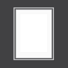 Black and white picture frame with window mat