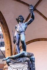 Perseo con testa Medusa, Statua, piazza della Signoria, Firenze