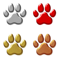 Metallic Paw Prints