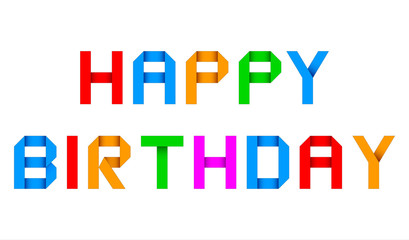 happy birthday origami greeting