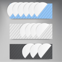 Vector banners lines. Color web design