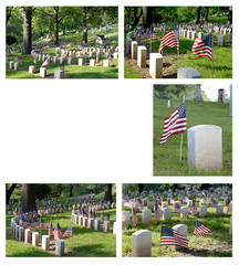 Veterans Cemetery Collage