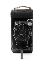 Old bellows photo camera