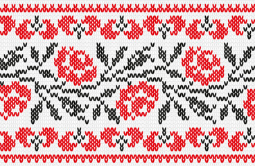 Ukrainian ornament knitting seamless texture