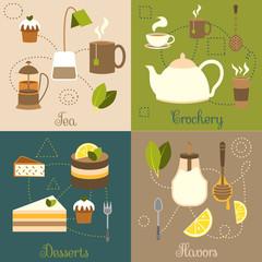 Tea flat set