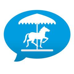 Etiqueta tipo app azul comentario simbolo carrusel