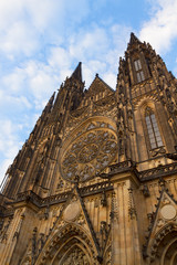 facade of  Vitus cathedral, Prague
