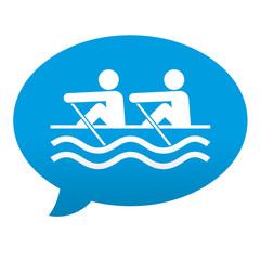 Etiqueta tipo app azul comentario simbolo remeros