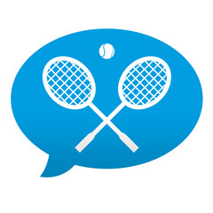 Etiqueta tipo app azul comentario simbolo tenis