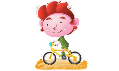 Kids riding a bike