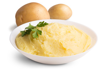 Mashed potato isolated on white background