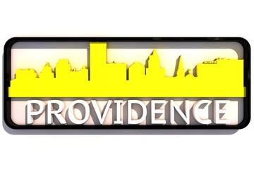 Providence USA base colors of the flag of the city 3D design