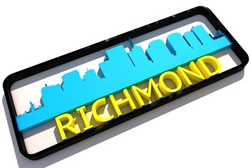 Richmond USA base colors of the flag of the city 3D design