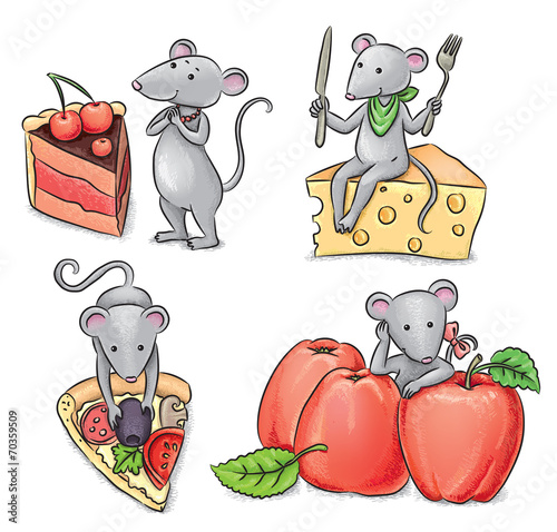 Mice and food - 70359509