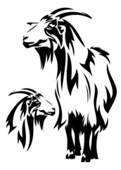 goat black and white design (year 2015 symbol)