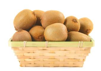 Kiwi in a basket