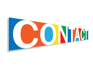 CONTACT icon (button social media marketing profile)