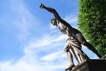 Statue in the Mirabell Gardens in Salzburg ,Austria