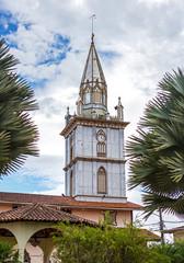 Steeple of an old cathedral, Zaruma, Ecuador