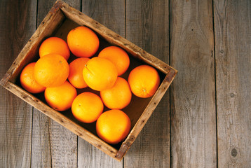 Oranges in a box
