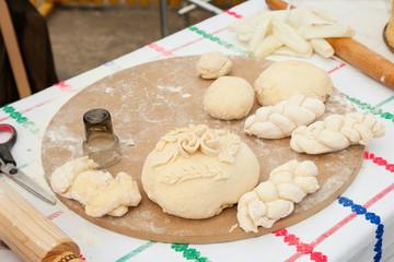 Fresh Homemade Bread Dough for Holidays
