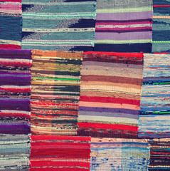 Traditional colorful rug textile