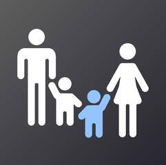 Grafik Pflegekind in Familie