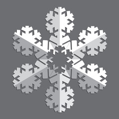 Decorative abstract snowflake.