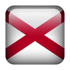 Square flag button - Alabama
