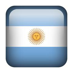 Argentina square flag button