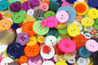 Leinwanddruck Bild - Many coloured sewing buttons