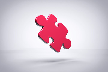 Red Puzzle Piece Background or Wallpaper