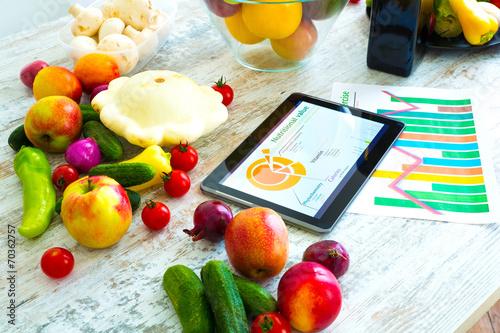 canvas print picture Ernährungsberatung im Internet