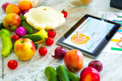 Fotobehang Keuken Ernährungsberatung im Internet