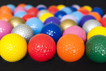 Assorted Mini Golf Balls