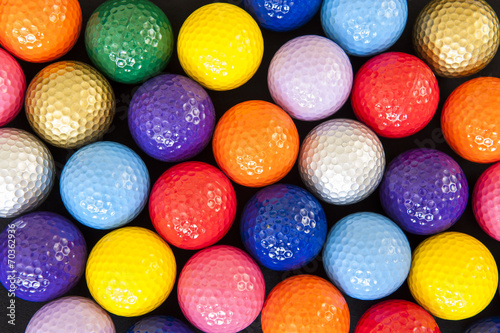 Tuinposter Golf Colorful Golf Balls