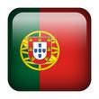 Portugal square flag button - 70363193