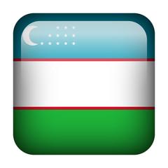 Uzbekistan square flag button