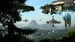 Leinwanddruck Bild - Alien spaceships invading Rio De Janeiro