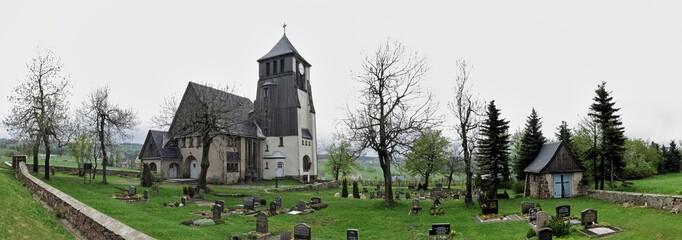 Church in Zinnwald in Saxony in Germany