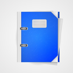 Vector illustration of blue folder.