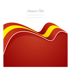 Spain abstract flag ribbon vector