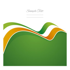 Ireland abstract flag ribbon vector